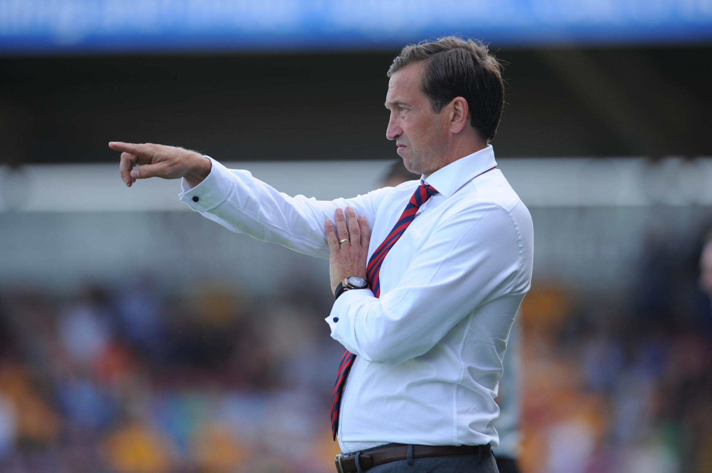 POINTLESS: County boss Justin Edinburgh has seen his sidel lose three out of three in League Two