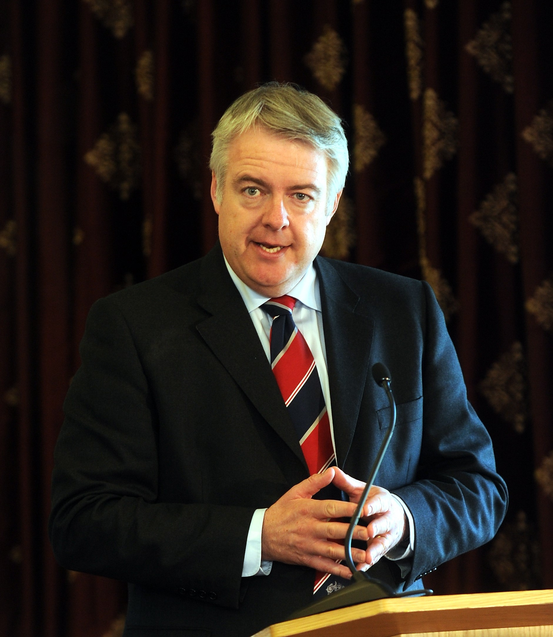 Argus-Mark   Reporter-Nat   23-03-11 Ryder Cup economic report  Carwyn Jones  (7985733)
