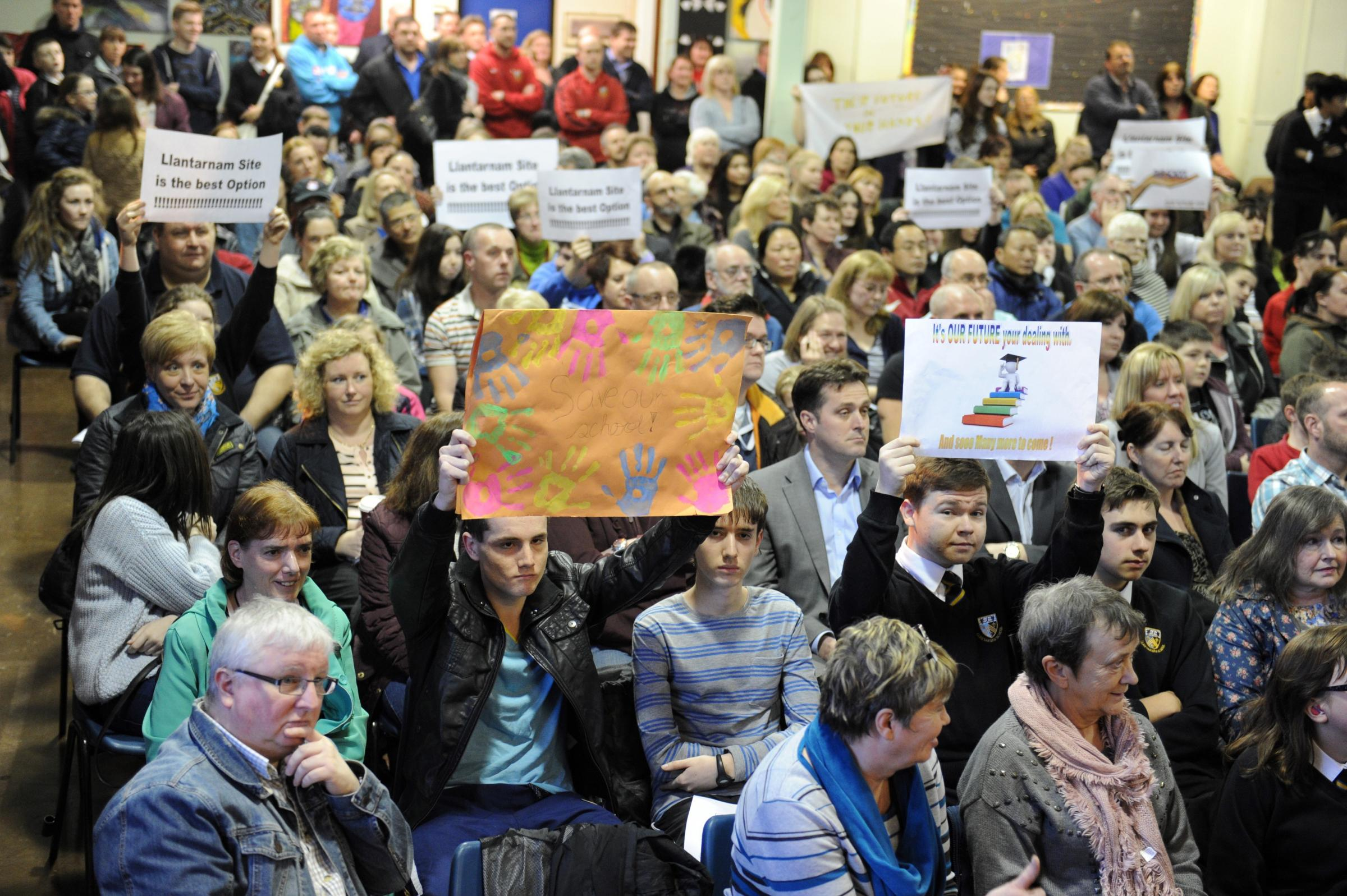 Hundreds protest against Llantarnam school closure plan