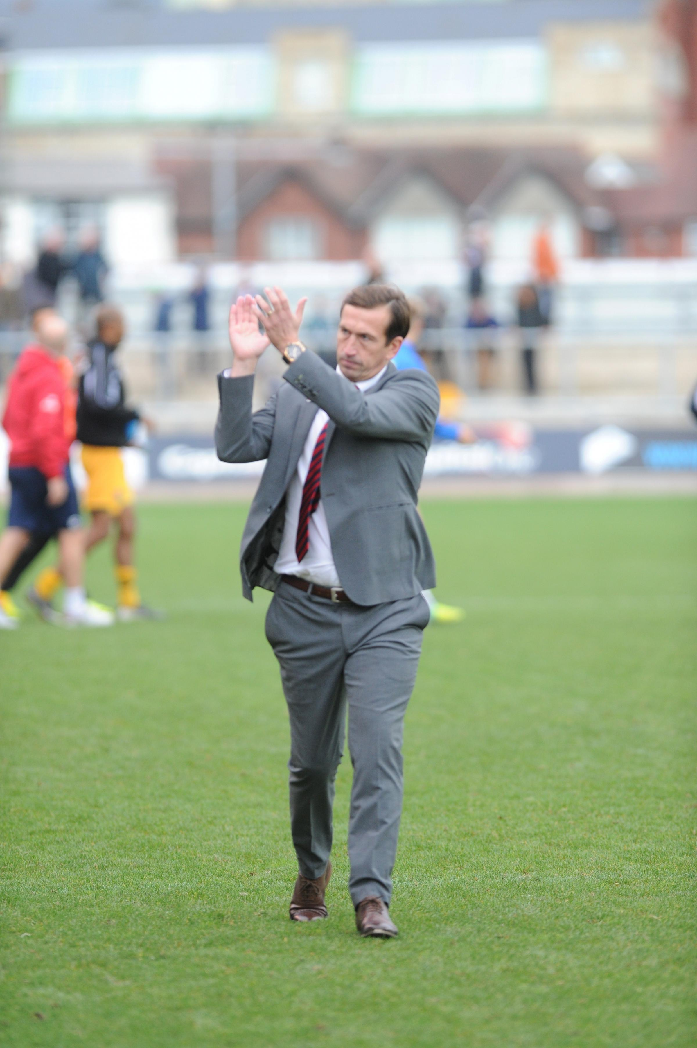 DETERMINED: Newport County manager Justin Edinburgh