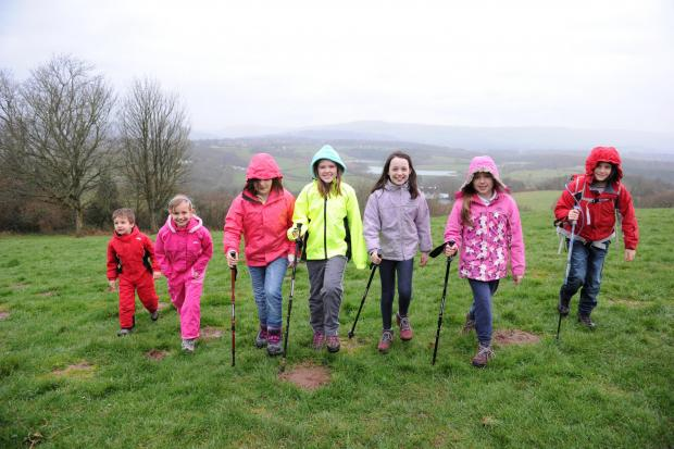 South Wales Argus: Children will be climbing Snowdon in May to raise money for St David's Hospice.  Pictured from left are Arton French, Katey French, Millie Manson, Isabel Young, Evie Hond, Jasmine Bridges and Mitchell Davies (4839162)