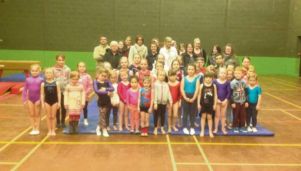 BACK HOME: Members of Cwmcarn Gymnastics Club