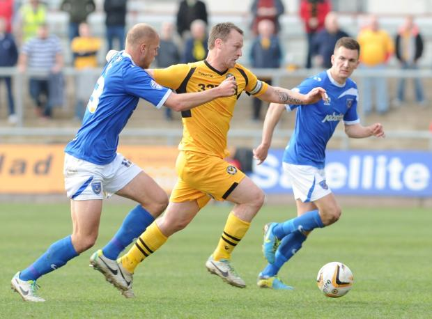 HOPE: Newport County skipper Mike Flynn