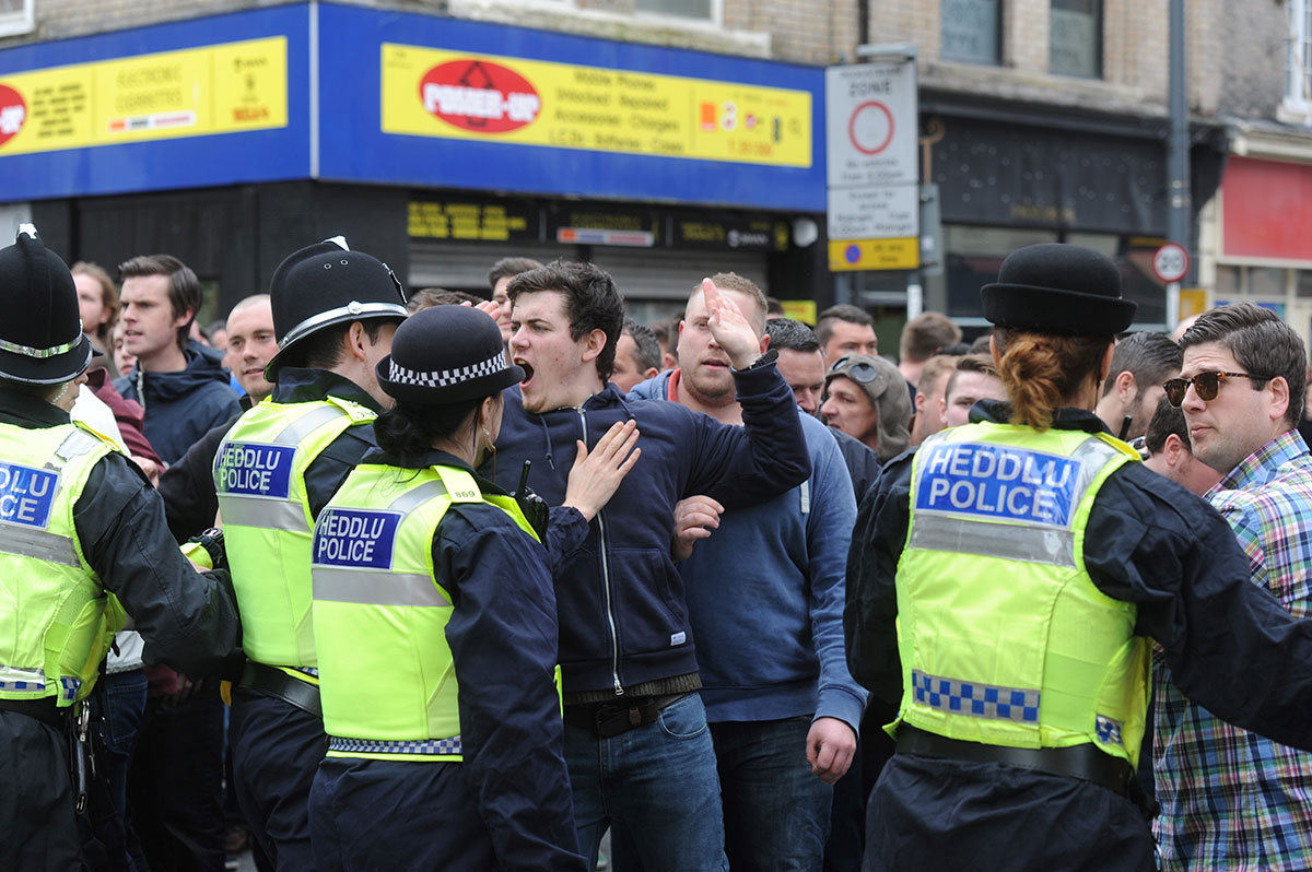 Two fans arrested at County v Portsmouth clash