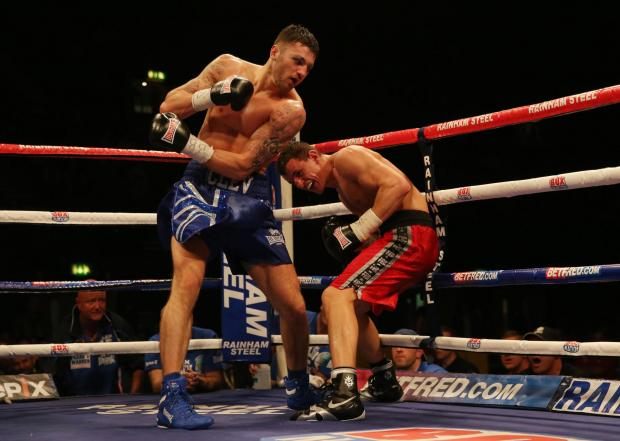 South Wales Argus: MASTER BLASTER: Nathan Cleverly (left) in action with Robin Krasniqi during the WBO World Light-Heavyweight Championship title fight at Wembley Arena, London.