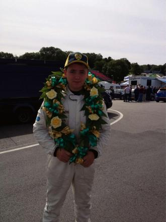 WINNER: Newport's Rory Collingbourne after victory at Brands Hatch last year
