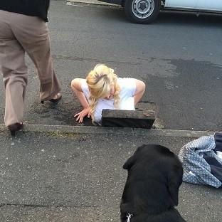 Ella Birchenough was rescued by firefighters after getting stuck in a storm drain while trying to retrieve her mobile phone in Dover (Handout/PA)