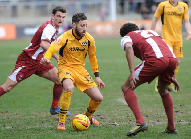 DETERMINED: Newport County star Robbie Willmott wants to end the season on a high