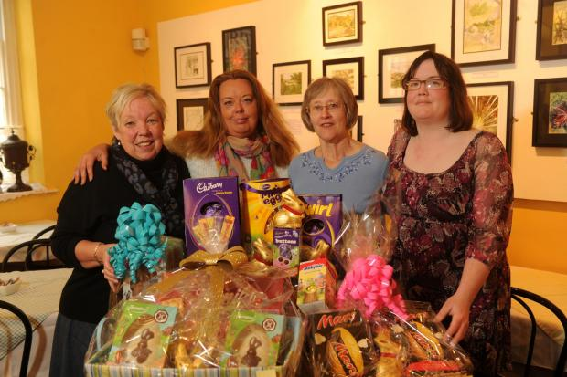 South Wales Argus: Volunteers at Pontypool Museum with the Easter raffle prizes (4943734)