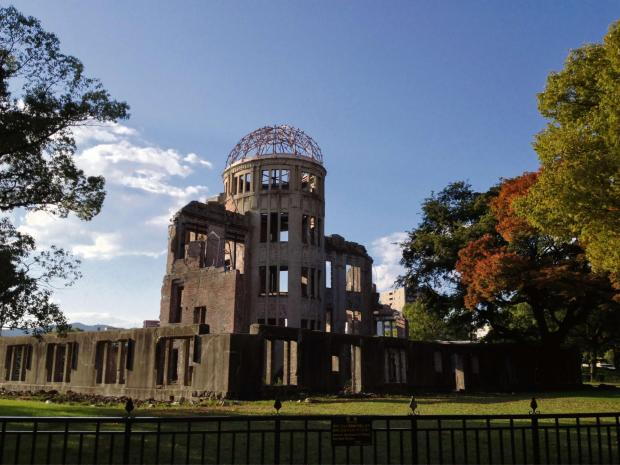 South Wales Argus: The Atomic Bomb Dome in Hiroshima. The former exhibition hall was one of the few buildings left standing after the atomic bomb detonated