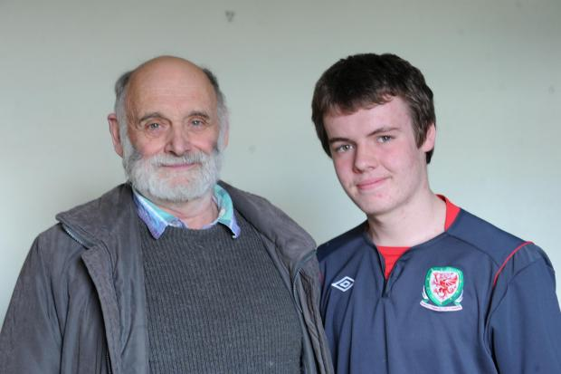 South Wales Argus: Terry and Jake Tidley from Forgeside whose relative George Turner died during WW1 (5208198)