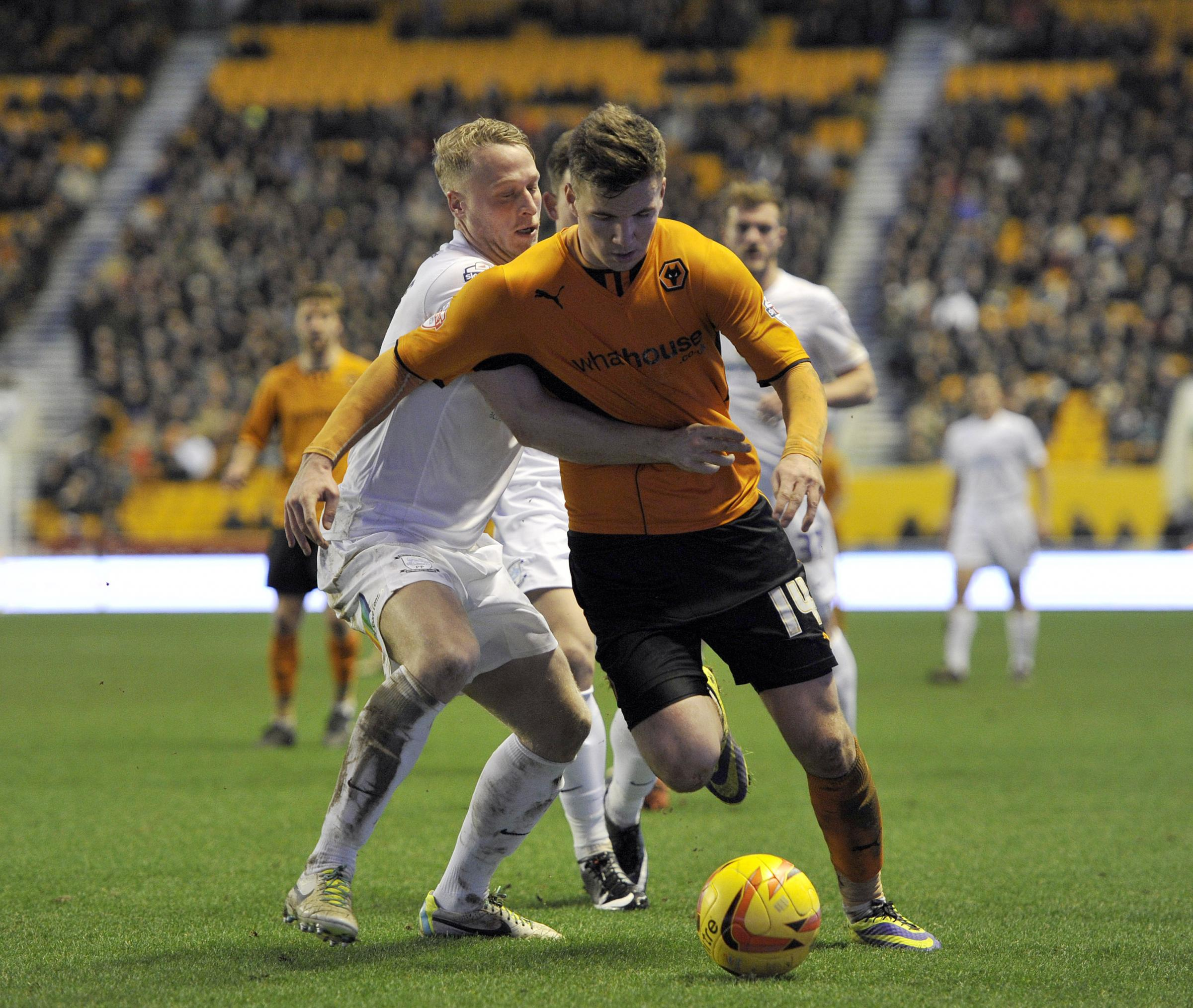 GOING UP: Newport's Lee Evans has been promoted again with Wolves