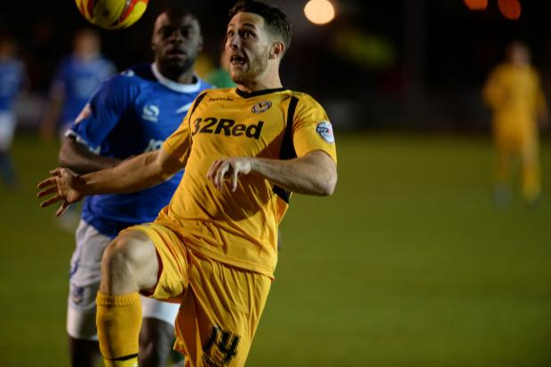 NOMINATED: Conor Washington in action for Newport County against Portsmouth in the Johnstone's Paint Trophy in November