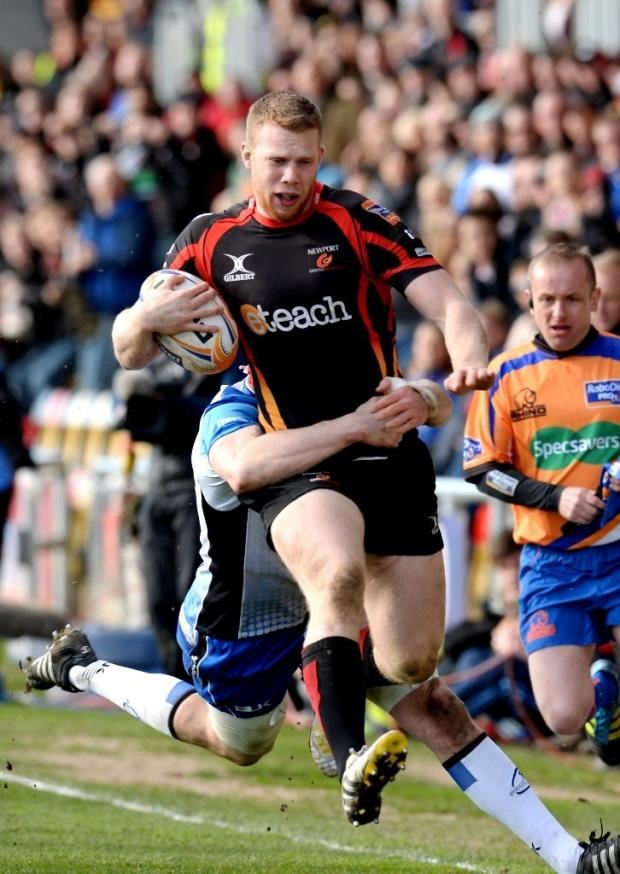 South Wales Argus: Newport Gwent Dragons versus ConnachtPOWER RUN Dragon Jack Dixon (4803815)