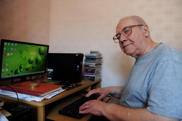 South Wales Argus: Author Bryn Fortey from Newport who took up writing after the death of his wife and son. (5443402)