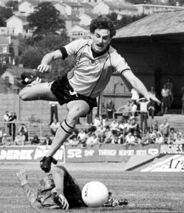 HERO: John Aldridge in action for Newport County in 1983