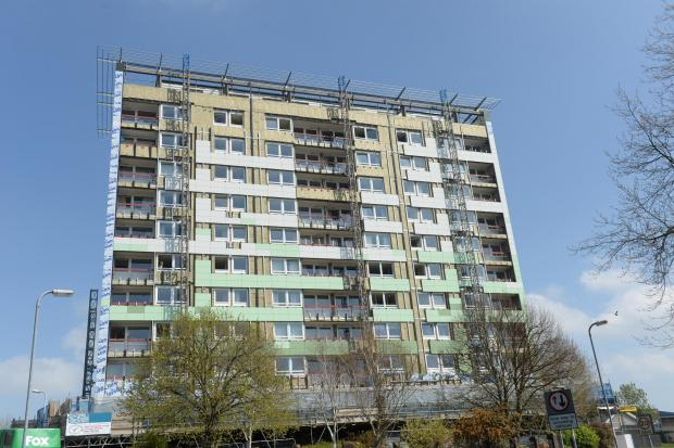 South Wales Argus: Greenwood Tower Block in St Julians, Newport. (5482479)
