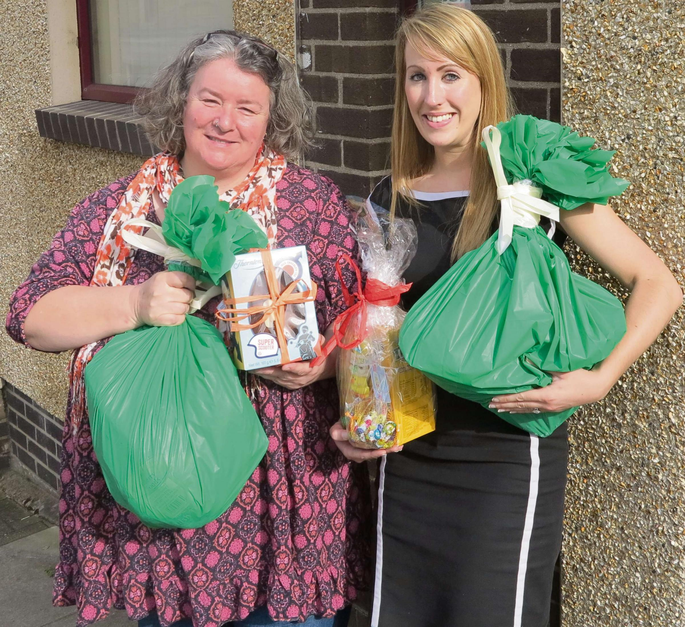 EASTER DONATIONS: Carol Alderton of
