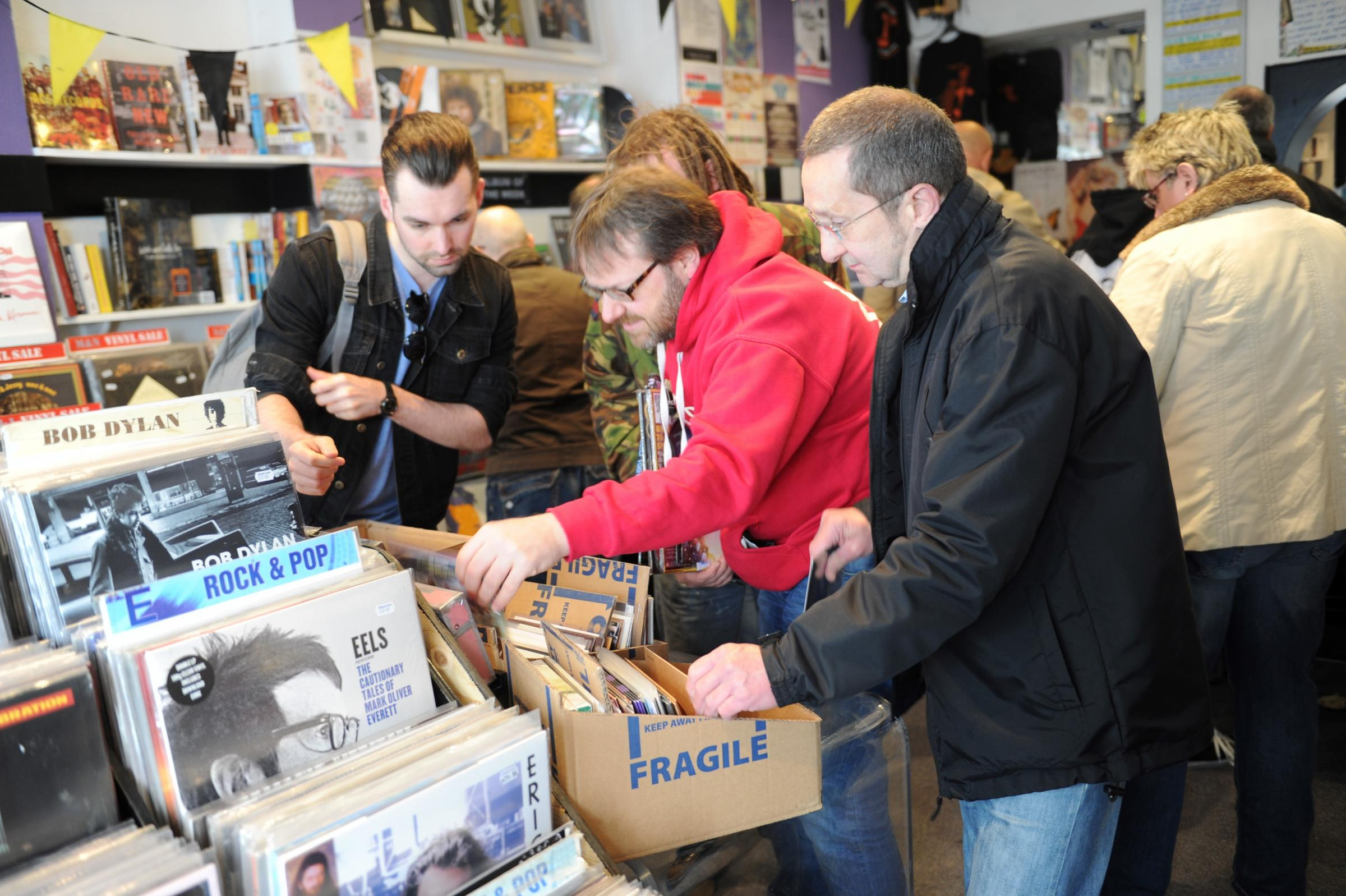 Record store day brings out the crowds in Newport