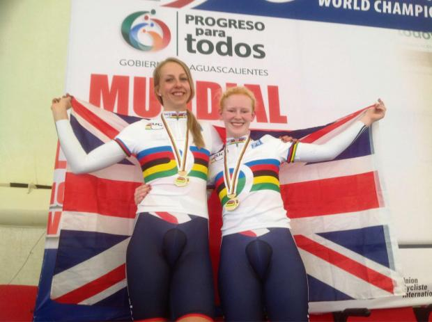 CHAMPIONS: Rachel James, left, and Sophie Thornhill