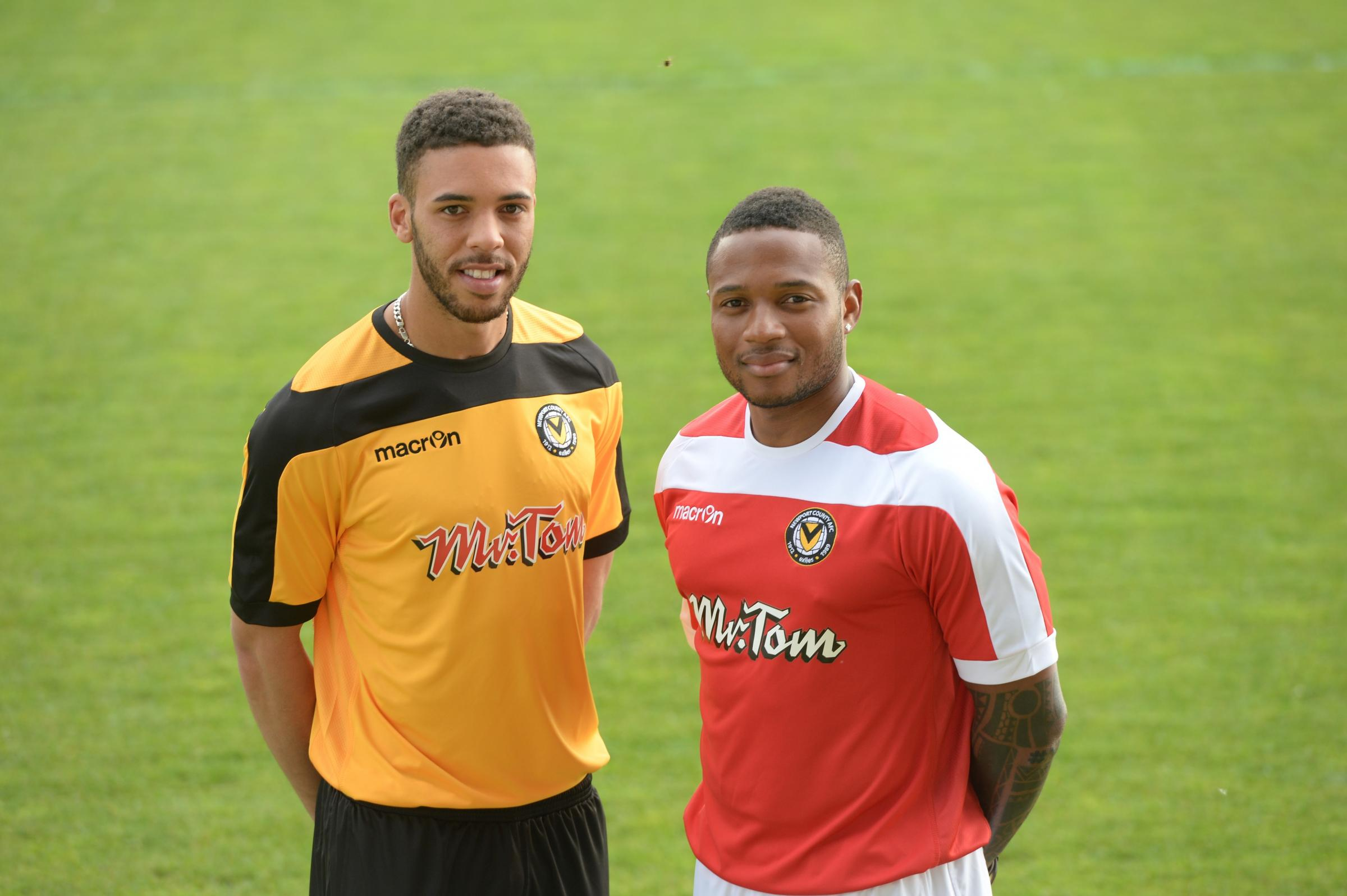 POSITIVE: Christian Jolley and Aaron O'Connor are looking ahead to next season with optimism