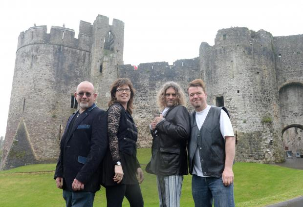 "The Belgians reuniting at concert in Chepstow Castle this summer. Pictured (left to right) are Dave Cox, Jess Butler, Ian Luther, and Gary ""GT"" Davies. (5674654)"