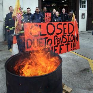 Firefighter strike support 'solid'