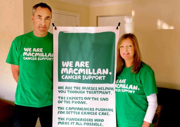 SWA MIKE LEWIS 19 2 13 REPORTERFIRST PERSON INTERVIEWDAVID THOMPSON OF LANGSTONE WHO HAS RAISED TENS OF THOUSANDS OF POUNDS FOR MACMILLAN AFTER LOSING HIS FATHER TO CANCER. HE IS NOW AN AMBASSADOR FOR THE CHARITY. HERE HE IS WITH WIFE CLAIRE (4801506)