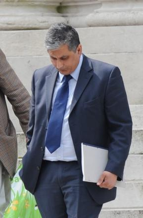 Pictured leaving Cardiff Crown Court is Torfaen Council Officer Farooq Dastgir. (5713090)