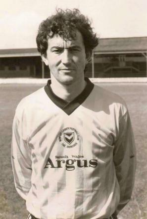 HOMETWON HERO: Tony Pulis during his playing days with Newport County in the mid-1980s
