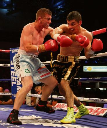 UNDERDOG: Gary Buckland, left, fights for a Commonwealth title tonight