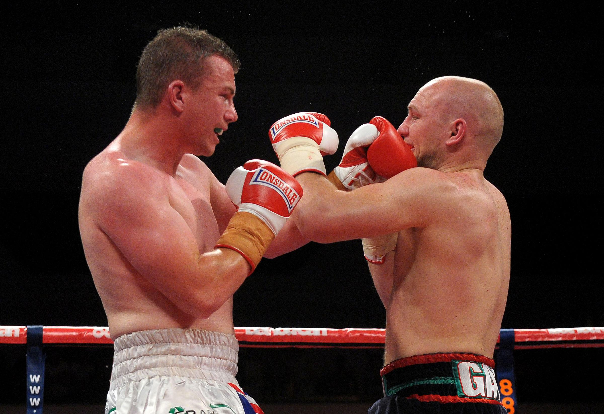 TITLE FIGHT: Gary Buckland, left, knows he needs a win after defeat to Gavin Rees last time out