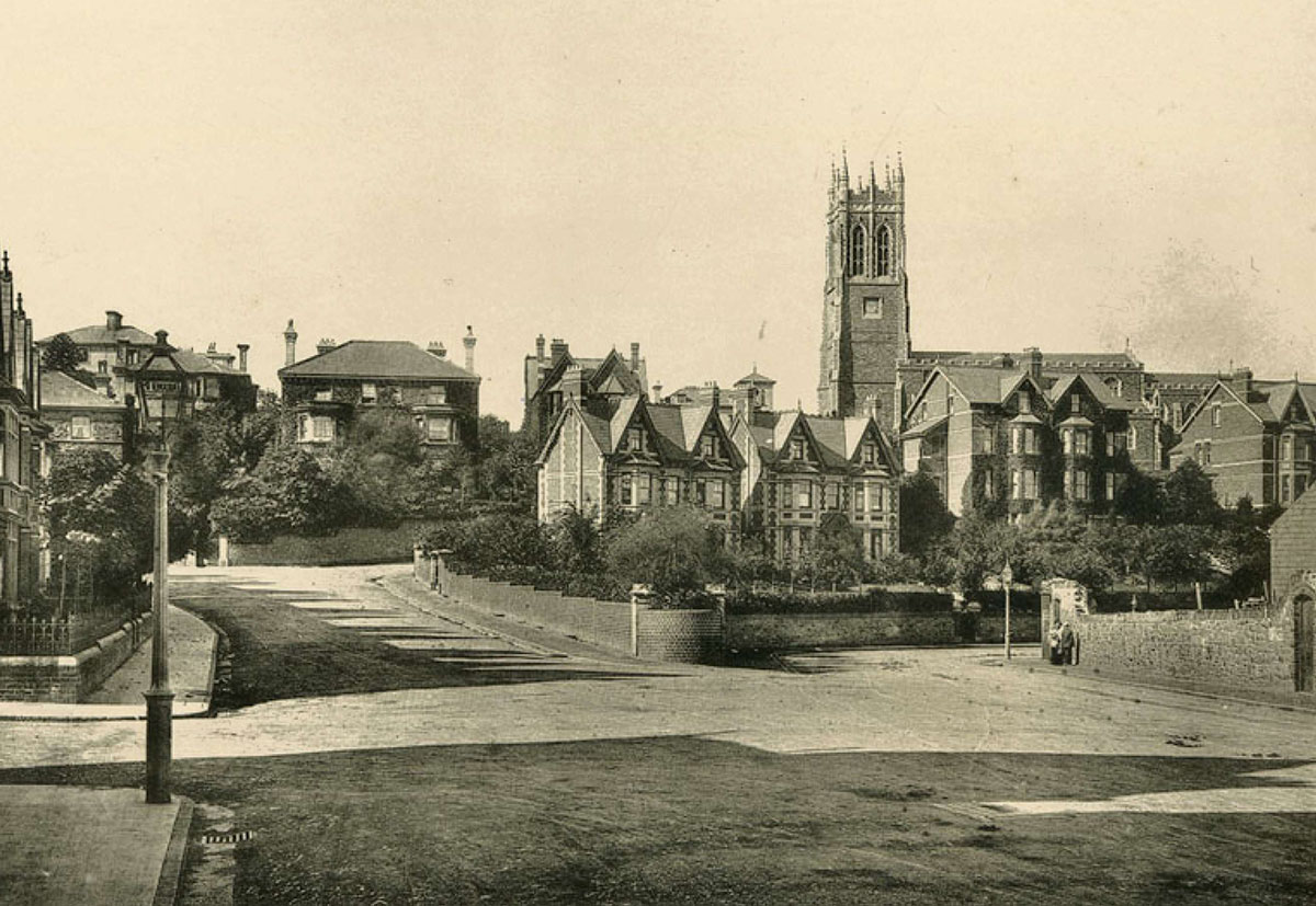 NOW AND THEN: Godfrey Road and St Mark's Church, Newport