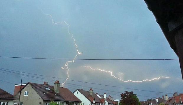 Lightning over Gwent - send your pictures