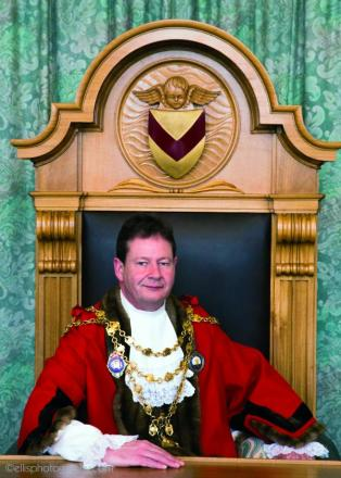 New Newport mayor Cllr Matthew Evans (Ellis Photography)