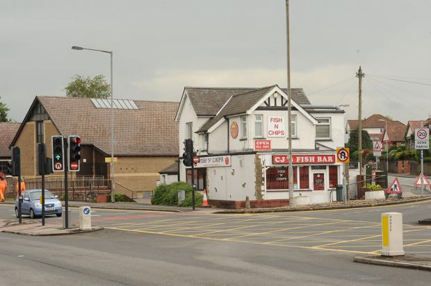 SCENE: CJ's Fish and Chip shop on Malpas Road