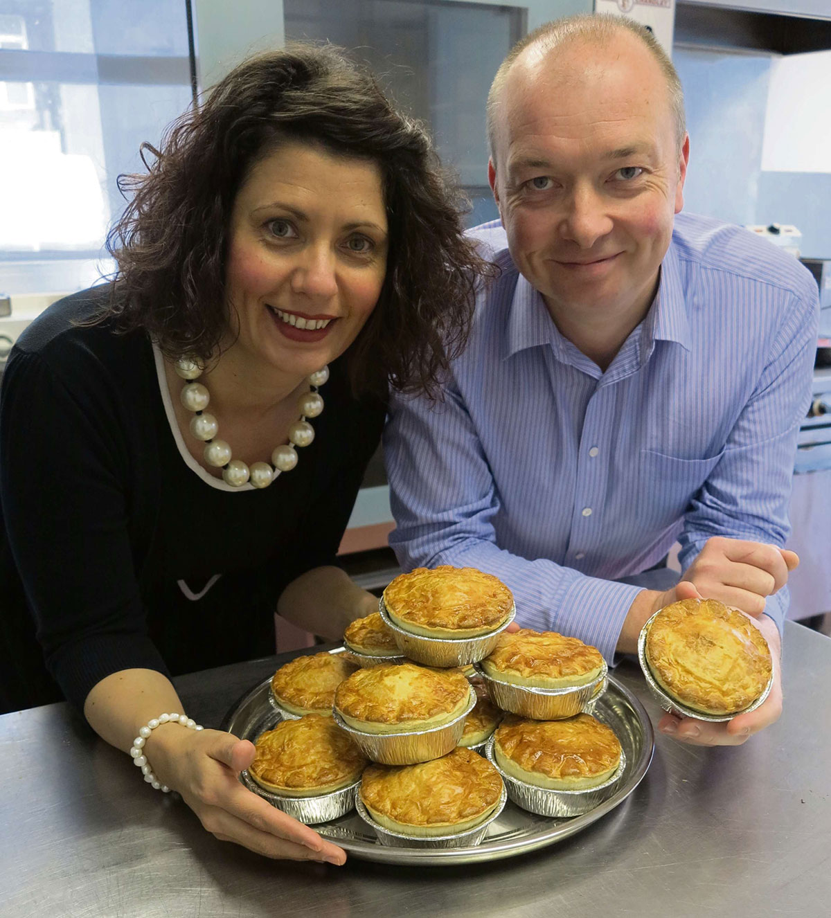 PERFECT PIE: Clare Morgan and  David Jackson of Peter's