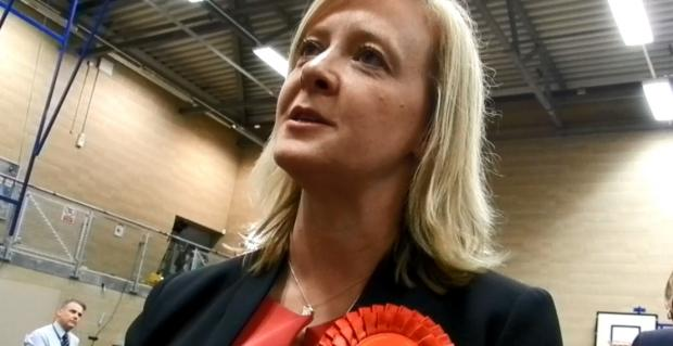 South Wales Argus: Jayne Bryant following the result