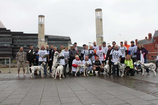 RIDERS: Participants in last year's bike ride