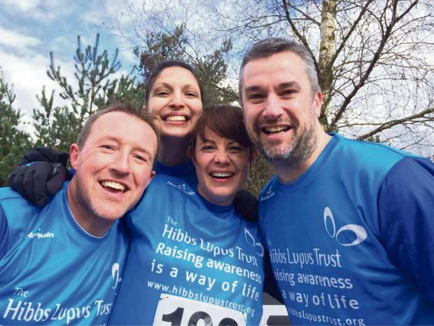 South Wales Argus: FUNDRAISING EFFORTS: Widow Emma Parker (centre) has taken on a number of challenges with friends and family