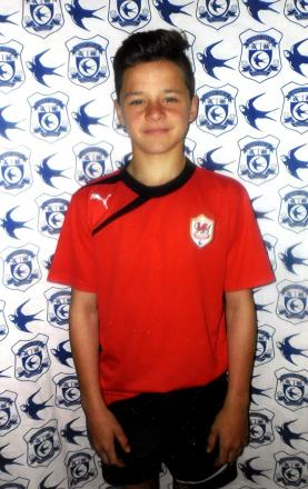 FUTURE STAR: Kieron Evans, aged 12, plays for the Cardiff City Academy side
