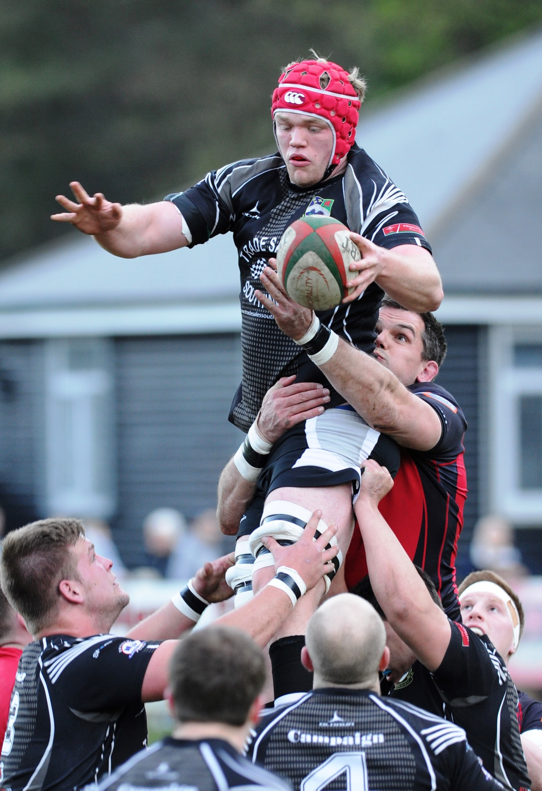 BRIGHT TALENT: Dragons teenage lock Joe Davies in action for Bedwas