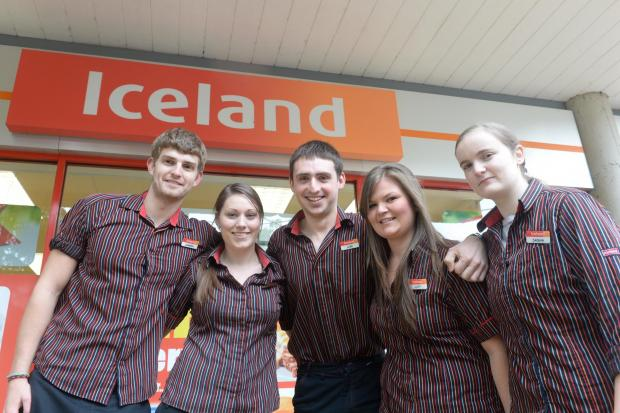 Cwmbran branch of Iceland employees to skydive for charity. Pictured are Luke Pinney, Hannah Parry, Darren Hanson, Lucy Jones and Sasha Staddon. (6597479)