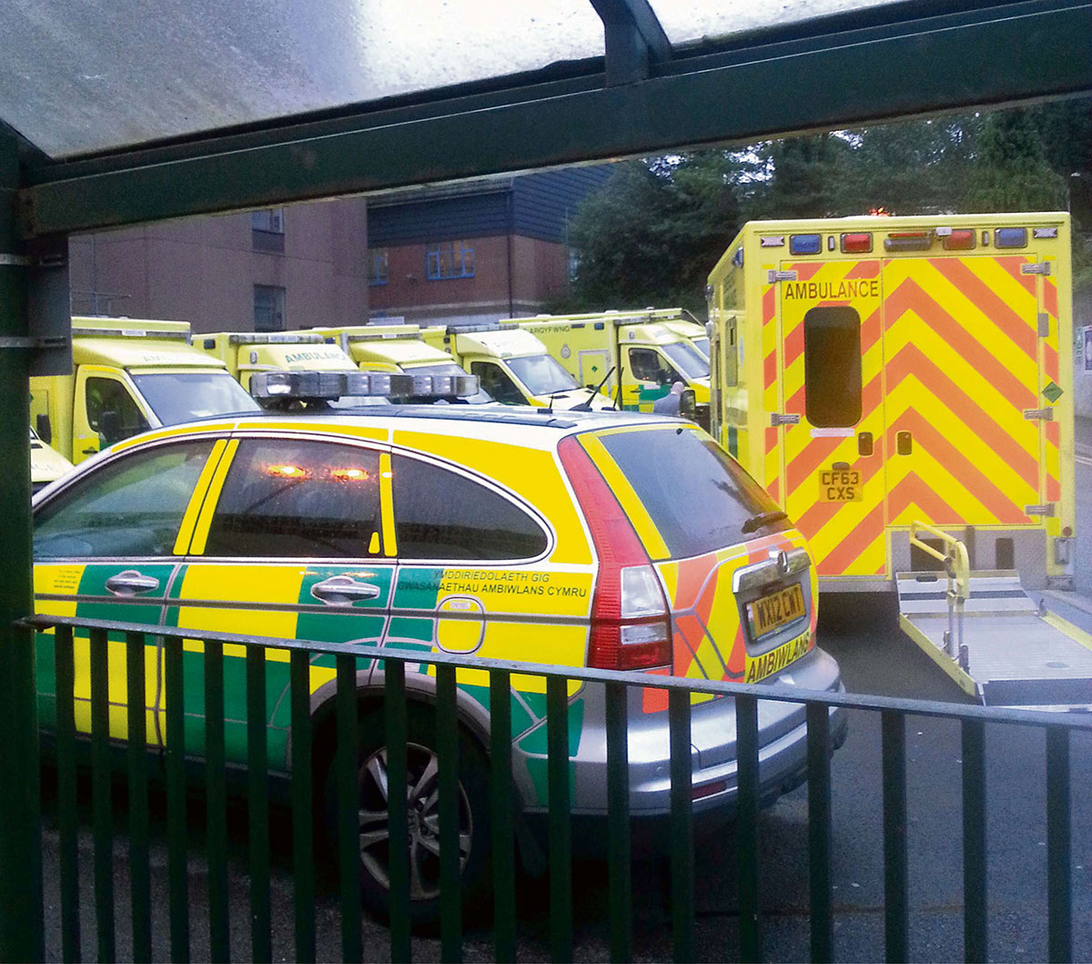 Ambulances delayed for hours in Newport A&E jam