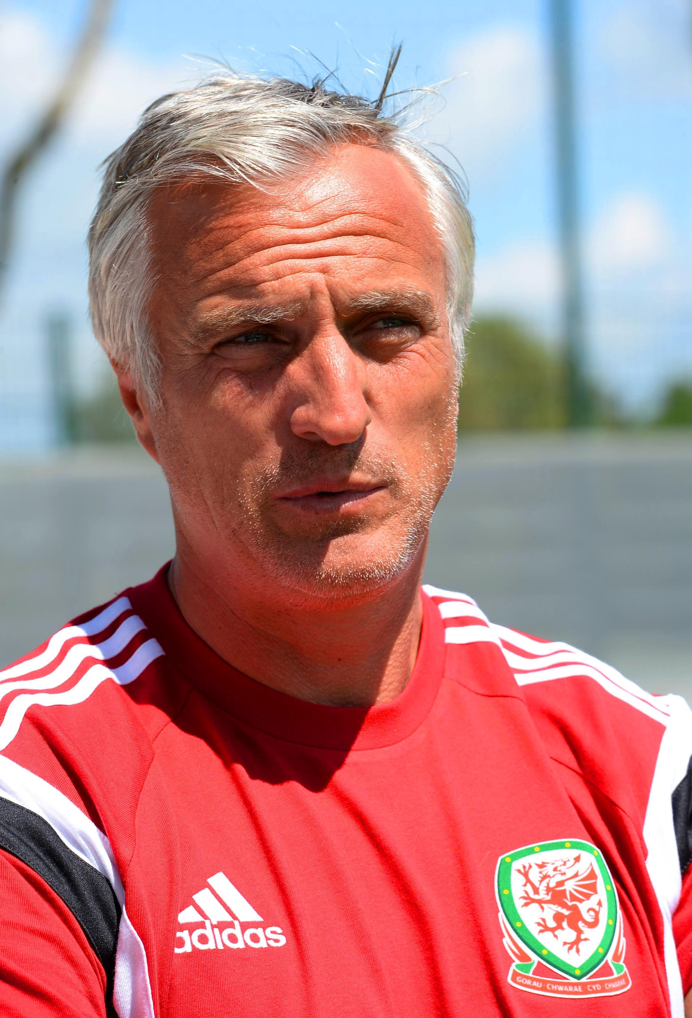 David Ginola coaching for A licence at Dragon Park Spytty Newport (6880511)
