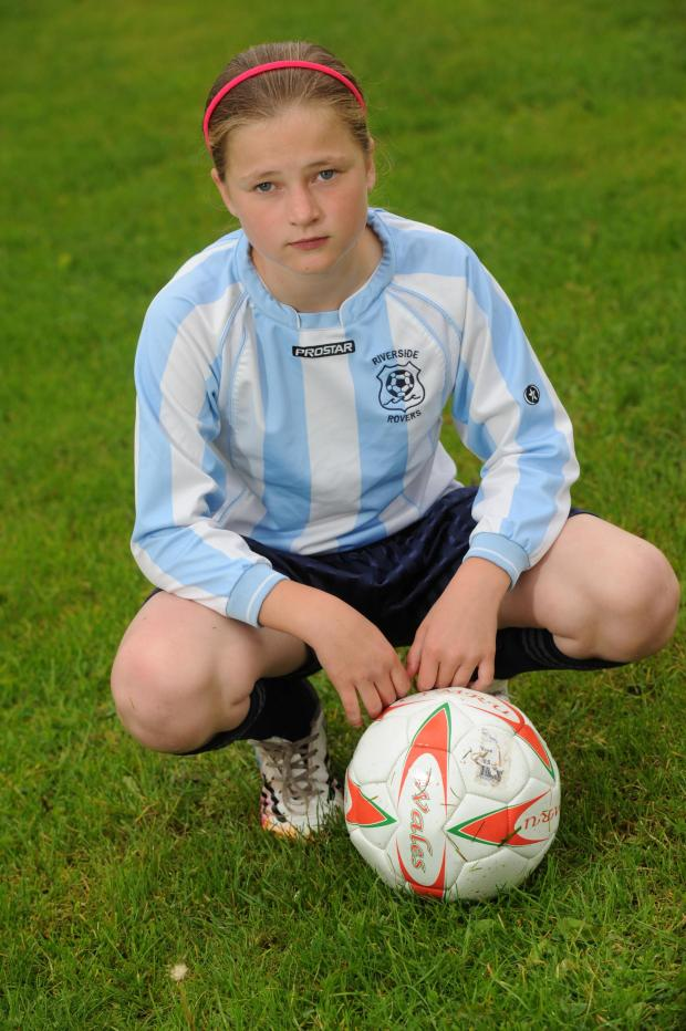 South Wales Argus: Megan Lewis aged 11, from St Julians has been told she can no longer play on mixed football team when she turns 12 (6855496)