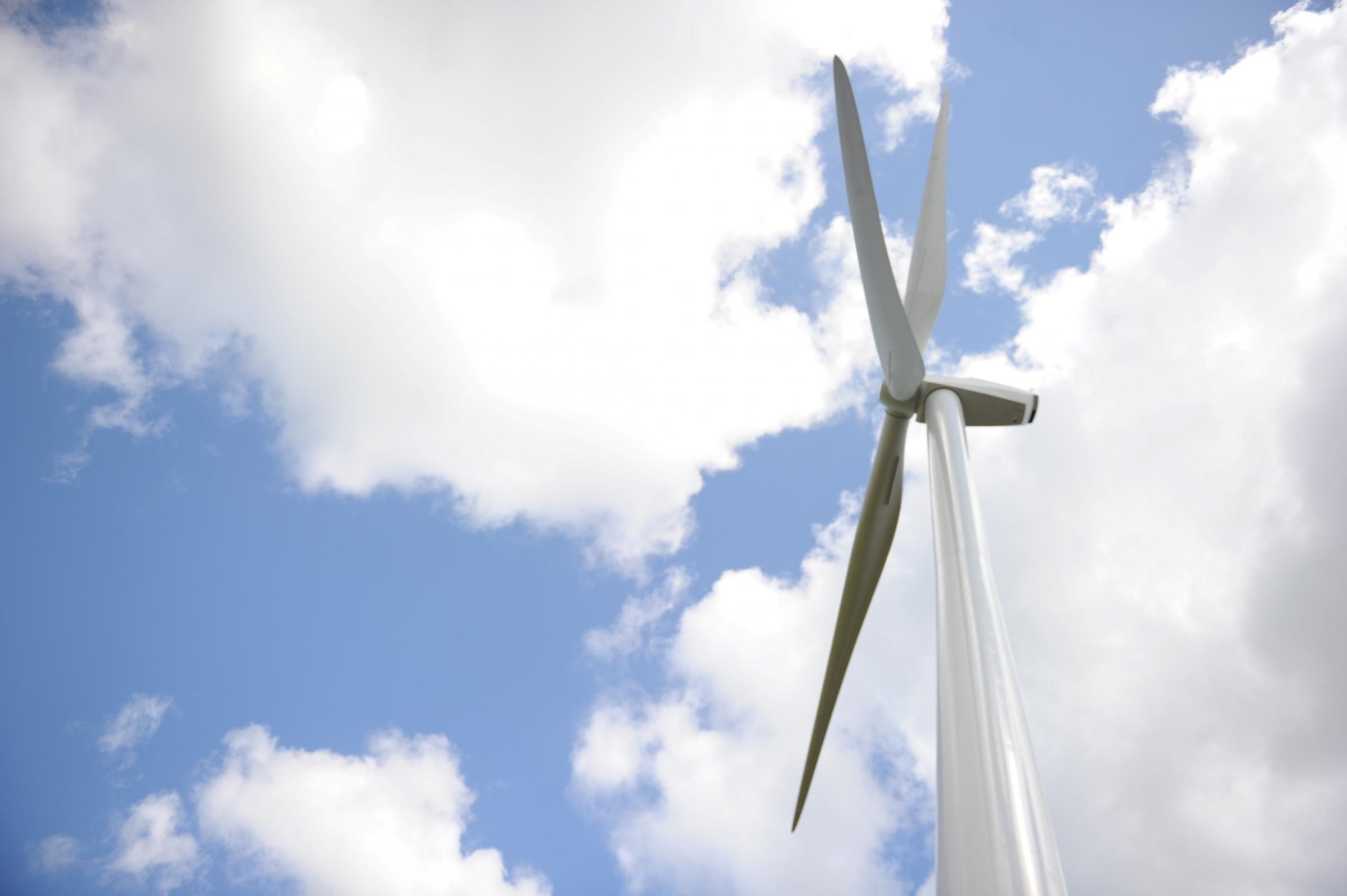 Wind turbines turn over ex-colliery