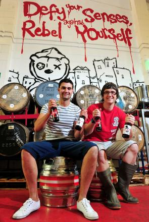 BEST BAR NONE:  Tiny Rebel Brewery, founders Bradley Cummings, left, and Gareth Williams