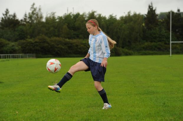 South Wales Argus: Megan Lewis aged 11, from St Julians has been told she can no longer play on mixed football team when she turns 12 (6855472)