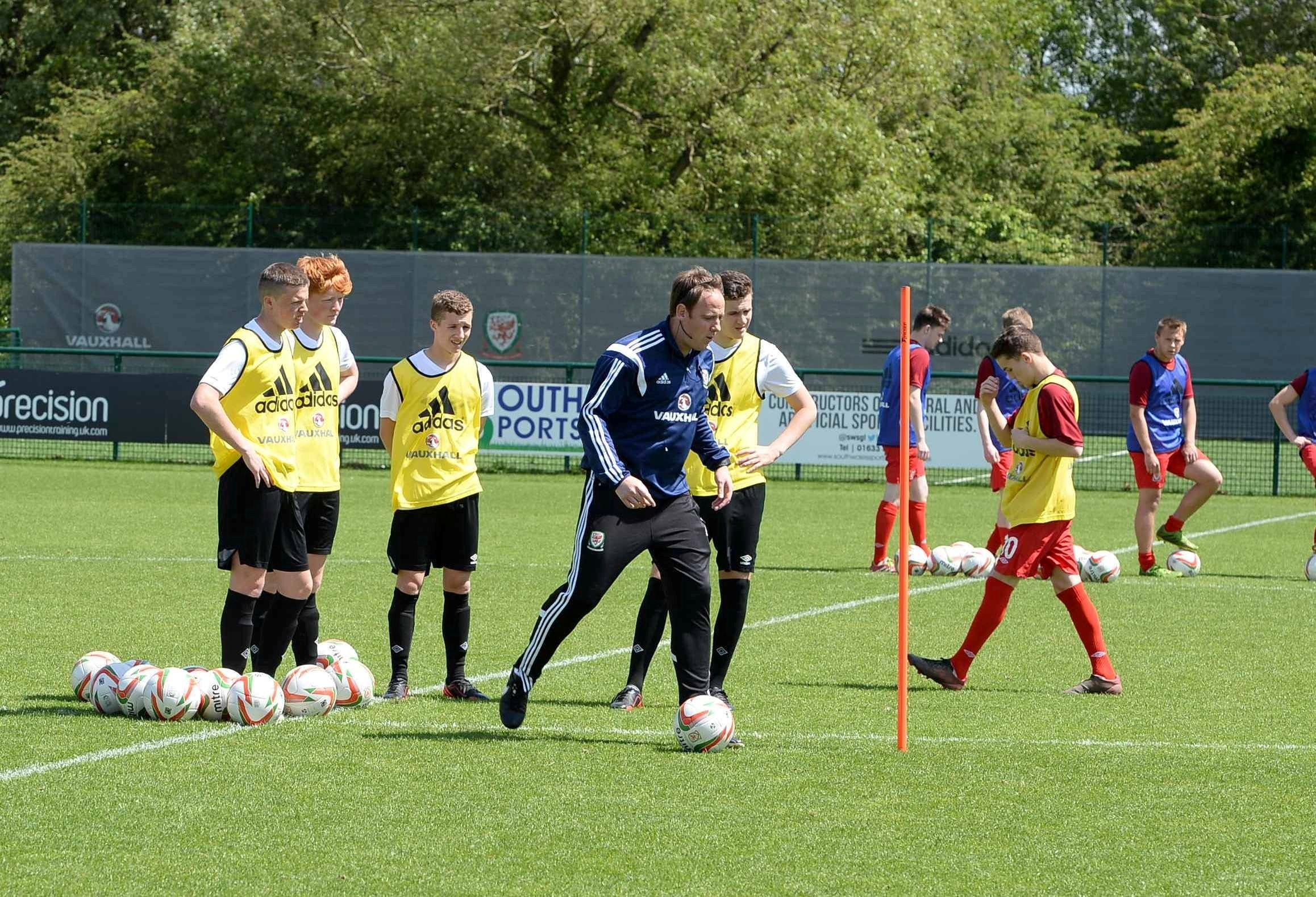 Coaching sessions at Dragon Park, Spytty, by FAW coachesIN SESSION  Boys from colleges and elsewhere under the watchful eye (6880509)